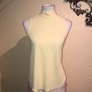Sleeveless high neck top